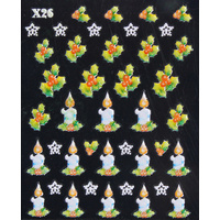 3d Nail Stickers - Christmas Set 13