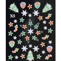 3d Nail Stickers - Christmas Set 7