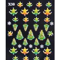 3d Nail Stickers - Christmas Set 11