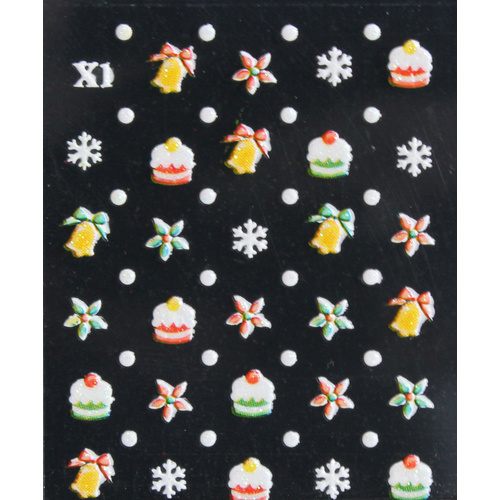 3d Nail Stickers - Christmas Set 21