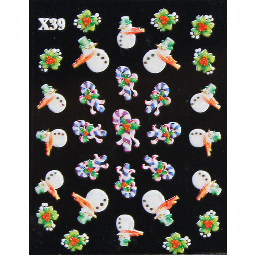 3d Nail Stickers - Christmas Set 8