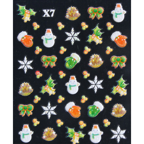 3d Nail Stickers - Christmas Set 18
